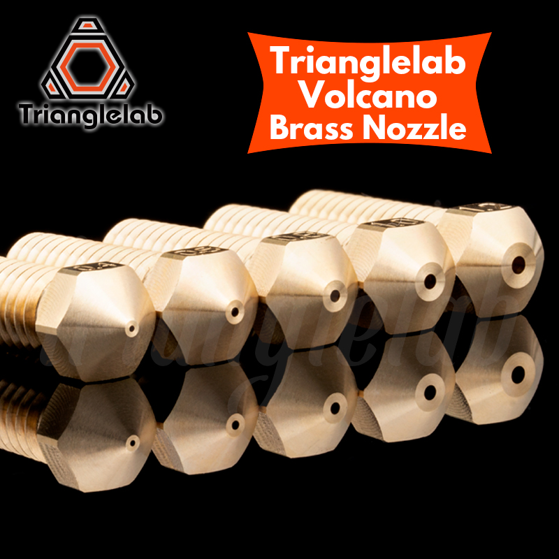Trianglelab T- Volcano Nozzle 1.75MM Large Flow High Quality Custom Models For 3D Printers Hotend For E3D Volcano Hotend J-head