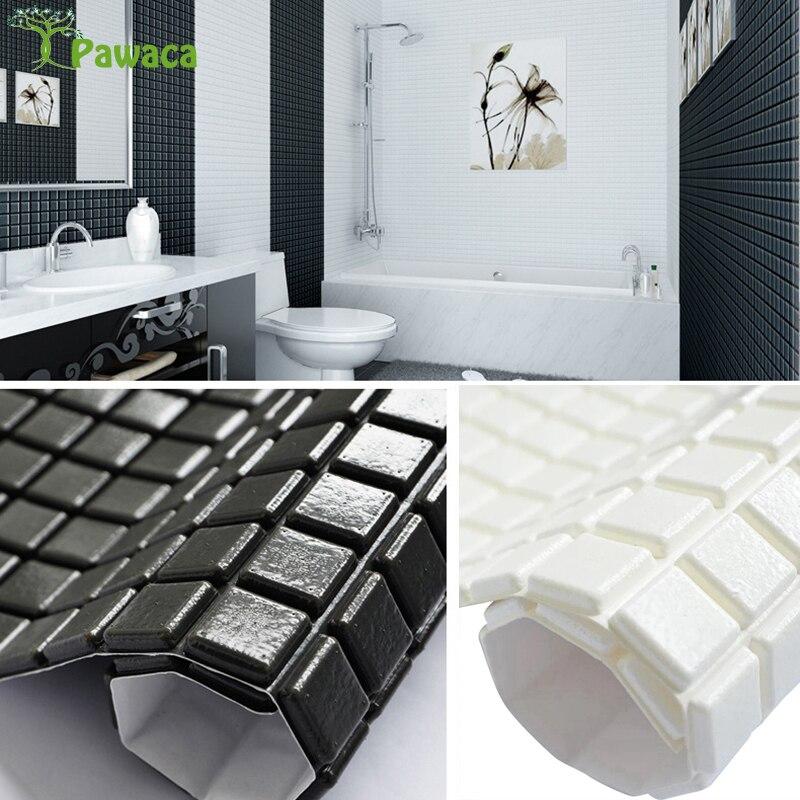 35x35cm DIY Self Adhesive 3D Wall Stickers Kids Bedroom Foam Brick Decor Wallpaper Bathroom Wall Decor Living Table Guard Strip