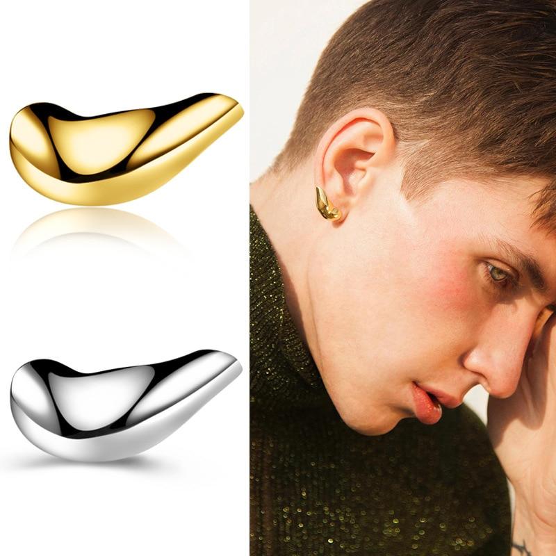 3D Stereoscopic Earlobe Earrings For Men Women Unisex Punk Hip-hop Earrings Gold Fashion 2020