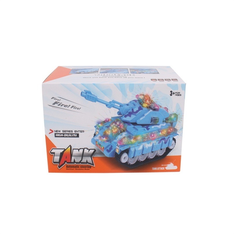 Children Model Electric Tank Shining Music Universal Tank Military Model Toy Stall Hot Selling