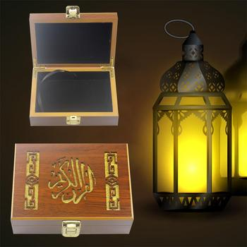 Wooden Islam Eid Ramadan Gurban Festival Fine Paint Bible Book Storage Box Crafts