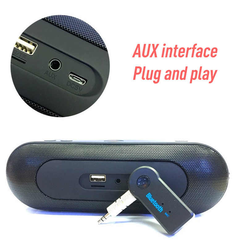 Aux Audio Bluetooth 4.0 Receiver Stereo Aptx 3.5mm Jack Wireless Adapter for Headphone Speaker Car Music Handsfree with Mic