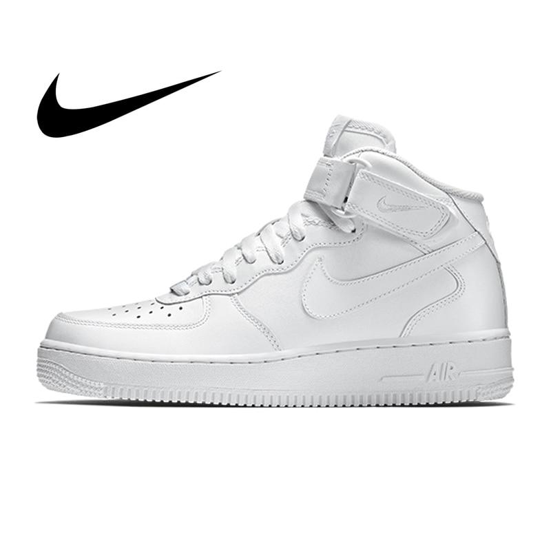 Origina Nike Air Force 1 Men's Skateboarding Shoes Cozy Classic Leisure High top Anti slip White Sneakers new designer 315123|Skateboarding| |  - title=