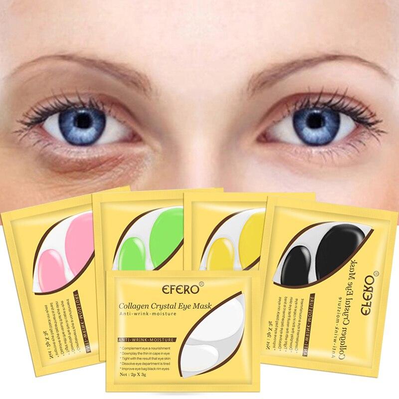 Gold Eye Mask Remove Dark Circle Puffiness Eye Bag Anti-Aging Wrinkle Firming Eye Patches Skin Care Crystal Collagen Eye Masks