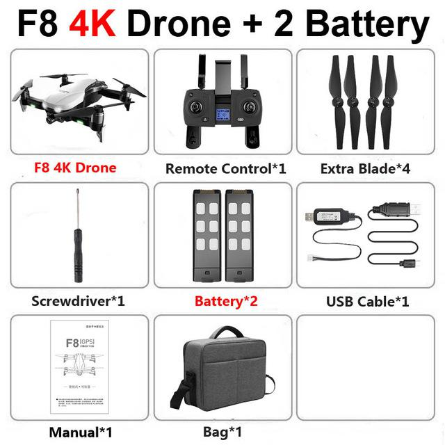 F8 Profissional FPV Vision 4K HD Camera Drone with Two-Axis Anti-Shake and GPS 47