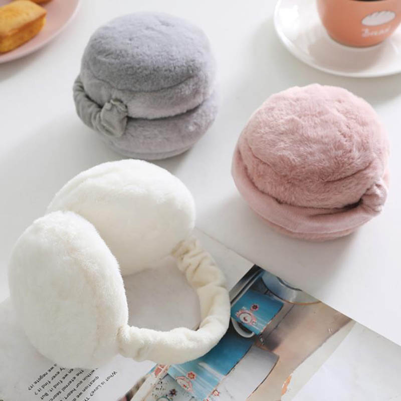 Calymel New Fur Headphones Solid Color Ladies Earmuffs Autumn And Winter Warm And Comfortable Unisex Skiing Cute Ear Muffs