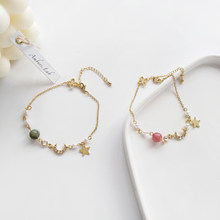 New Fashion Ins Style Temperament Chic Sweet Lovely Star Moon Pearl Bracelet 25