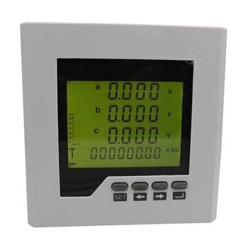 SHGO HOT-DTM-D120Y LCD Power Meter 3-Phase Multi-Function Digital Display Electric Energy Meter AC220V
