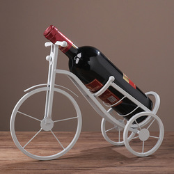 Factory direct supply European creative wrought iron tricycle wine rack, home decoration bar wine cabinet, metal wine rack