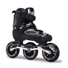 Розл 3*90/100/110 мм Скорость коньки высокие сапоги полу-мягкой для взрослых роликовых коньках обувь уличные гонки Инлайн роликовых
