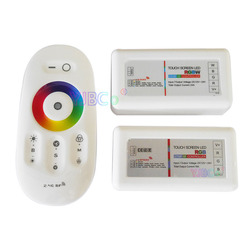 2.4G Touch Screen LED RGB RGBW Controller Wireless DC12-24V Touch RF Control For RGB /RGBW LED Strip 18A remote controller