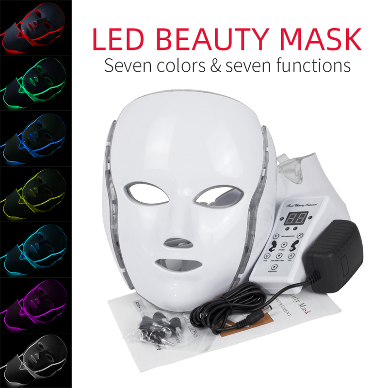 7 Color LED Mask with Box Skin Care Rejuvenation Led Skin Treatment Free Shipping DHL ship from DUBAI(China)