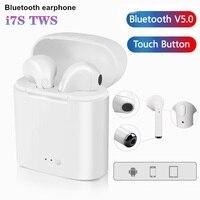Auriculares TWS i7s inalámbricos por Bluetooth, Auriculares deportivos para música, auriculares de negocios para todos los teléfonos inteligentes