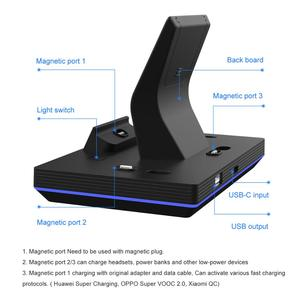 Image 5 - 2020 yeni 11th Gen 3 in 1 65W manyetik hızlı kablosuz şarj Dock enerji FORT Huawei 5A hızlı izle kulaklık şarj GT2