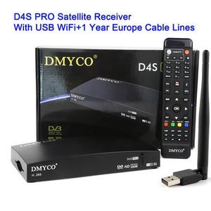 Image 5 - DMYCO D4S PRO 1 سنة أوروبا 7 كابل حقيقي كامل HD DVB S2 جهاز استقبال قمر صناعي مع واي فاي دعم Powervu Biss مفتاح فك