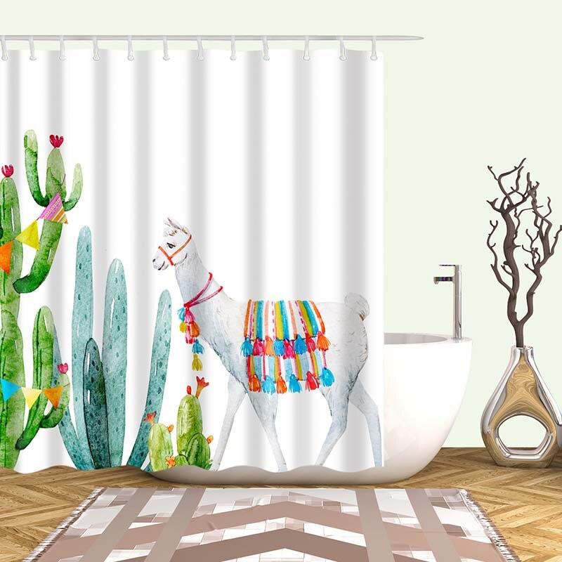 Тропический кактус, занавеска для душа, полиэфирная ткань, занавеска для ванной комнаты, украшения для ванной комнаты, мульти-размер, занавеска для душа с принтом s - Цвет: 15