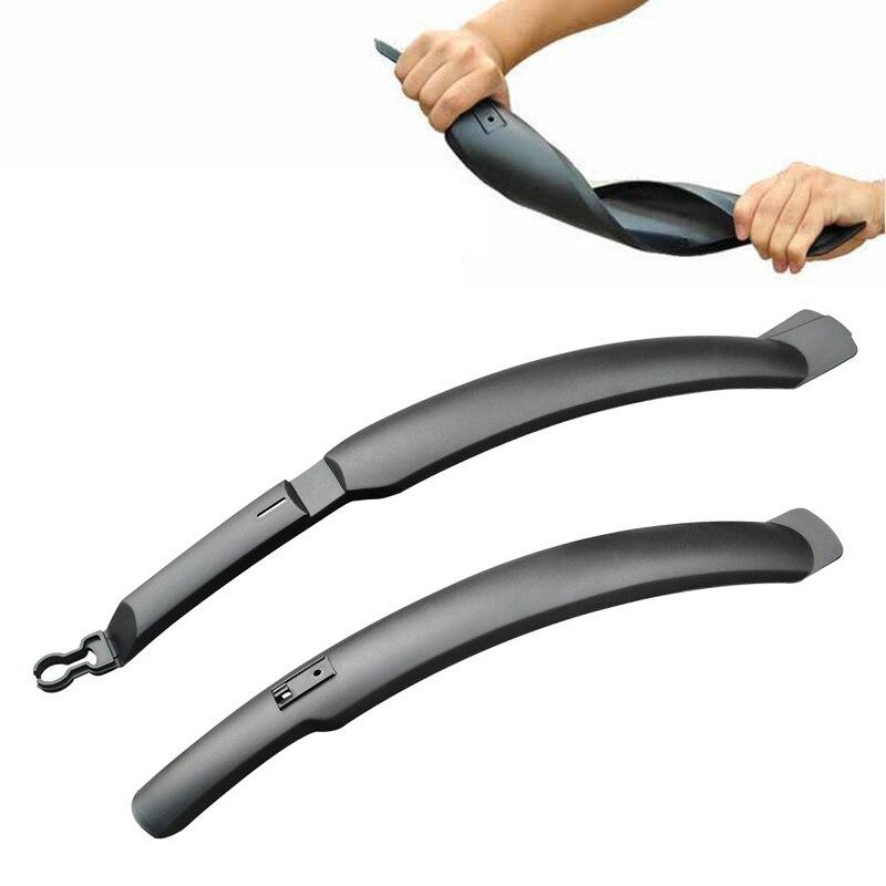 Offre spéciale garde-boue de vélo PVC plastique avant/arrière garde-boue de vélo vtt ailes de garde-boue accessoires de cyclisme