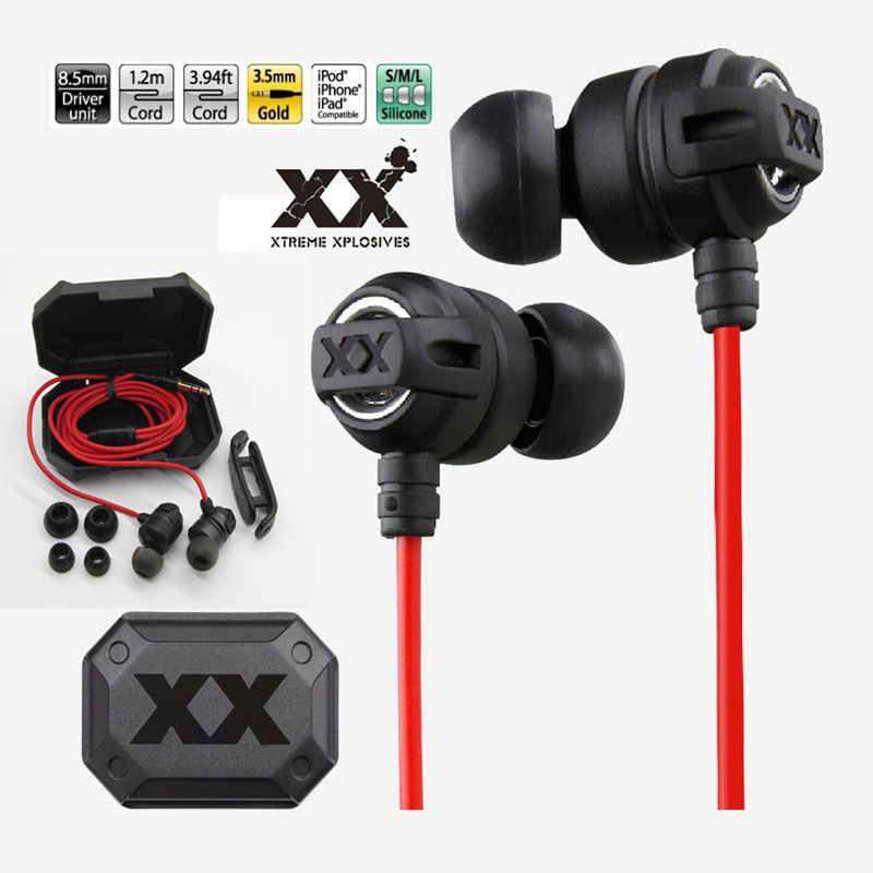 GIAUSA HAFX1X سماعة Xplosives الرياضة باس الصوت سماعات في الأذن العميق سماعة رأس جهيرة الصوت الألعاب الأذنية