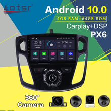 Odtwarzacz multi-dvd dla Ford Focus mk3 Android PX6 Multimedia 2012-2017 ekran radia samochodowego nawigacja GPS Auto Stereo jednostka główna Audio tanie tanio Aotsr Jeden Din 4*50W System operacyjny Android 10 0 Jpeg 1024*600 Bluetooth Wbudowany gps Telefon komórkowy Odtwarzacze mp3