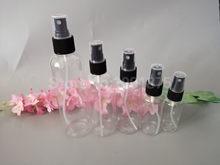 50 adet 10ml 30 50 60 80 100 ml 120ml 200 250ml şeffaf şeffaf sprey şişeleri siyah püskürtücü parfüm parfüm kozmetik kapları