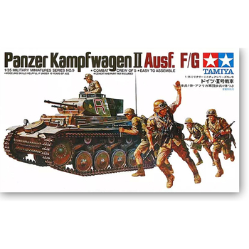 цена на Tamiya 35009 1/35 Scale WWII German Panzer Kampfwagen II Ausf. F/G Light Tank Display Toy Plastic Assembly Building Model Kit