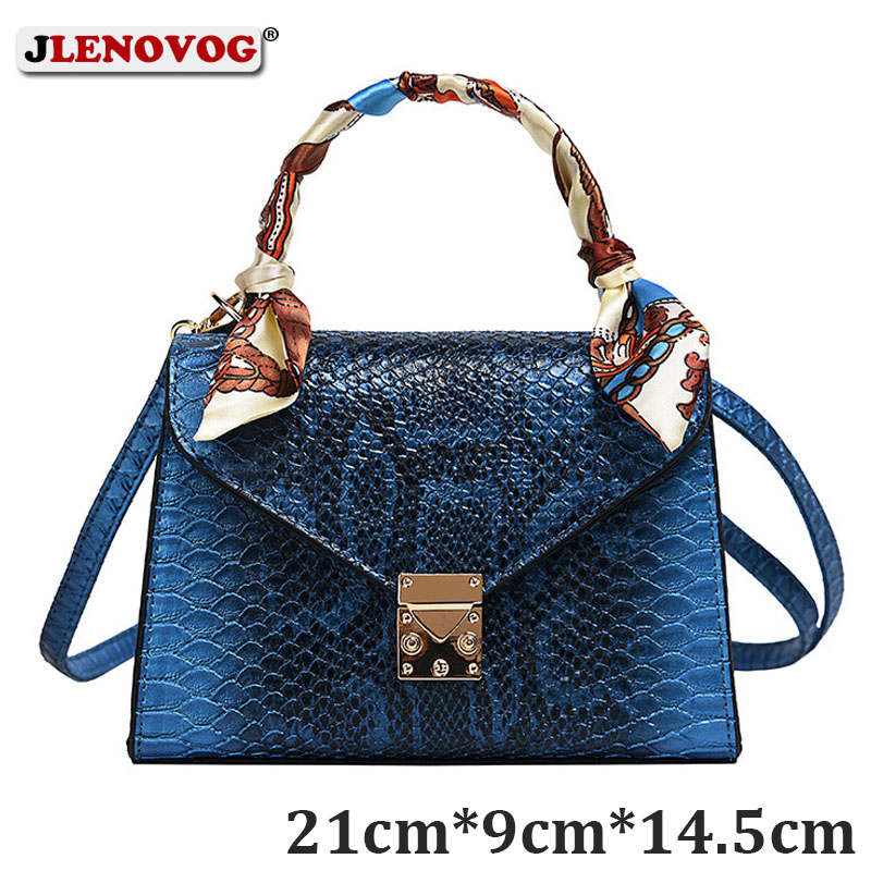 New Synthetic Leather Snakeskin Decoration Women's Large Purse