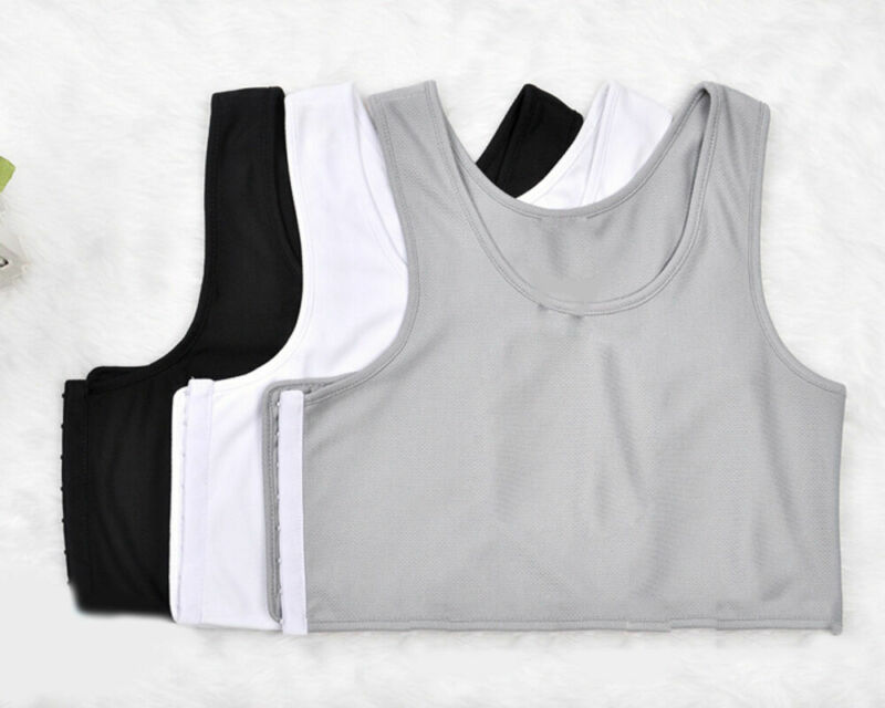 Casual Tomboy Lesbian Solid Crop Vest Chest Binder Tank Tops Vest Breast FTM Undershirt S-XXL
