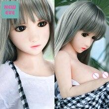 100 см (3,28 футов) силиконовая мини секс кукла Лолита Милая горничная японская кукла для взрослых Вагина киска анальный оральный секс игрушки для мужчин силиконовые