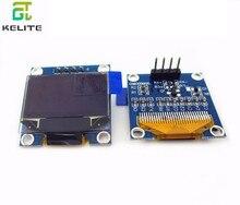 "10pcs 0.96 אינץ IIC הסידורי כחול לבן OLED תצוגת מודול 128X64 I2C SSD1306 12864 LCD GND VCC SCL SDA 0.96"""