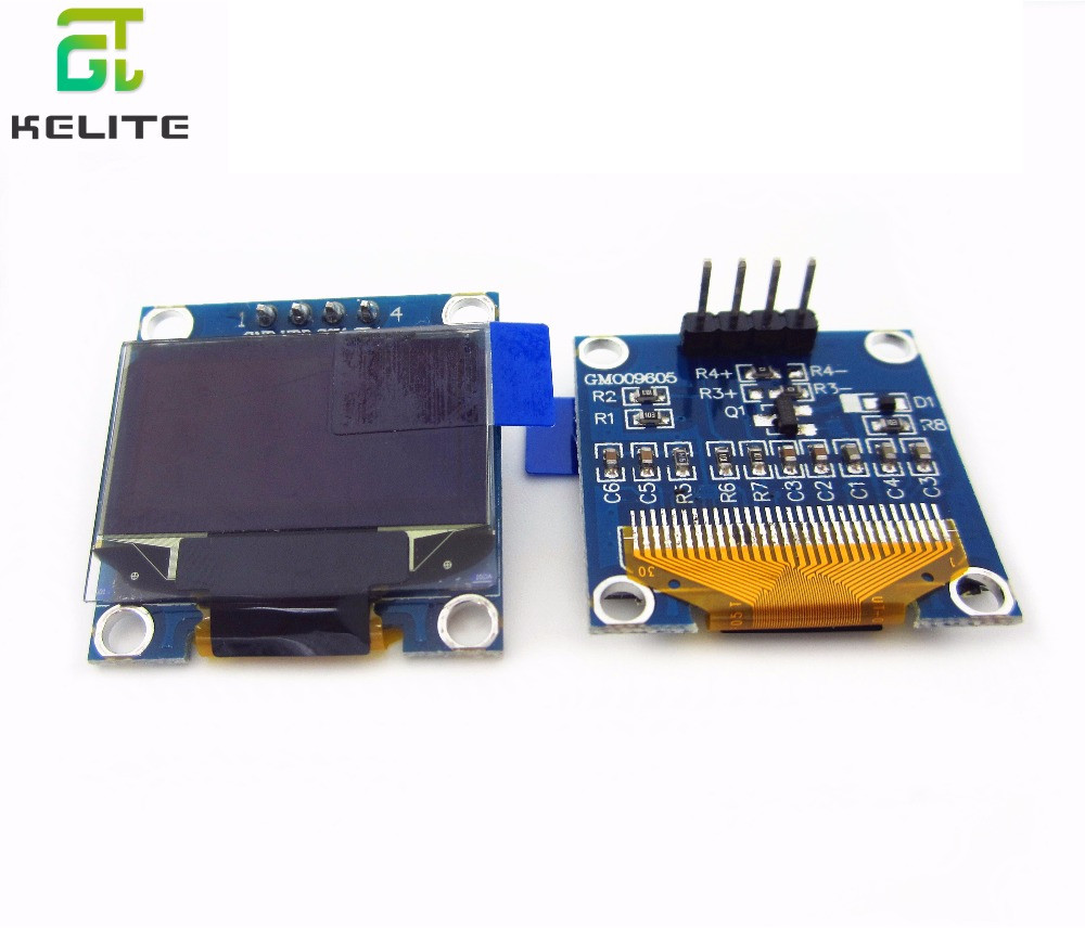 "Image 1 - 10pcs 0.96 inch IIC Serial Blue White OLED Display Module 128X64 I2C SSD1306 12864 LCD GND VCC SCL SDA 0.96""-in LCD Modules from Electronic Components & Supplies"