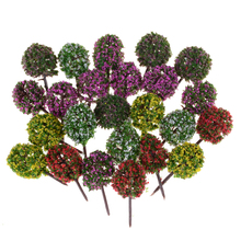 Fairy-Garden-Decoration Dollhouse Miniature Flower Tree-Plants Plastic 5pcs/Lot Craft-Model