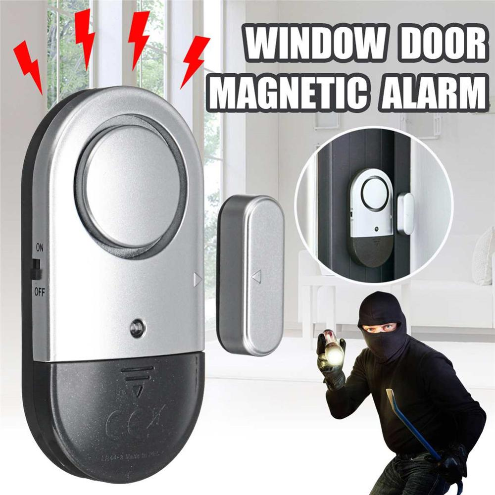 Door Window Alarm 2PCS Home Security Wireless Magnetic Sensor Burglar Anti-theft Ultra-thin 45JM13