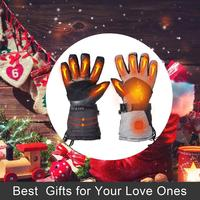 Electric Heated Gloves with 2500 MAH Rechargeable Battery Waterproof for Skiing Snowboard Motorcycle