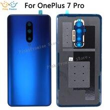 Dla oneplus 7 Pro pokrywa baterii tylne drzwi tylne drzwi obudowa pokrywa wymiana części z narzędzia 100% oryginalna skrzynka dla oneplus 7 pro