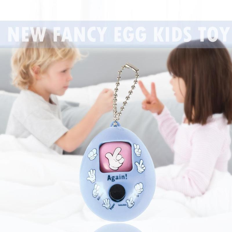 Children Finger-guessing Game Fancy Fair Fight Toy Plastic Round Egg Pendant Key Ring Birthday Gift Random Color