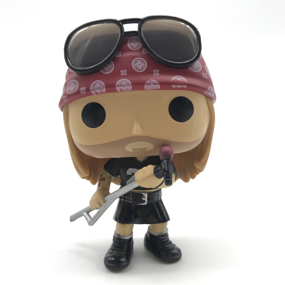 Rocks Guns N Roses - Axl Rose Action Figures Collectible Model Toy Collection For Kids Gifts No Box Has Defect