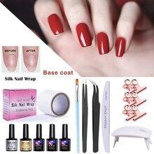 Nail Femme Gel Polish Fiberglass Extension Kit Quick Building UV Lamp Manicure Salon Fashion Tool nails sticker art