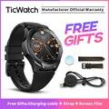 TicWatch S2 черные Смарт-часы Bluetooth спортивные часы GPS Android и iOS совместимые 5ATM водонепроницаемые Google Assistant