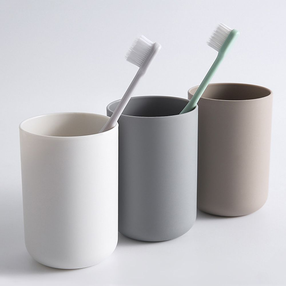 Bathroom Tumblers Plastic Mouthwash Cup Coffee Tea Water Mug Home Travel Solid Color Toothbrush Holder Cup Drinkware Tools