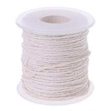61m warkocz bawełniany świeca knot rdzeń szpula non-smoke DIY lampy olejowe świece dostarcza C5AC tanie tanio NoEnName_Null CN (pochodzenie) WOOD