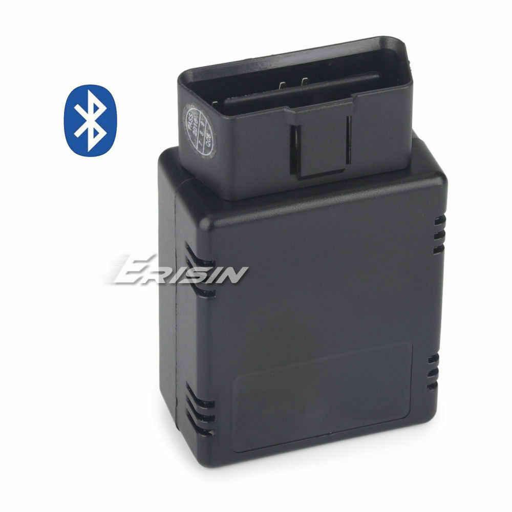 Erisin ES360 Torsi ELM327 V1.5 OBD2 Bluetooth Mobil Diagnostik Scanner Modul untuk Ponsel Android Radio