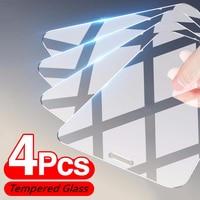 4 pezzi di vetro protettivo per iPhone 11 7 8 Plus 6 6S 5 5s SE 2020 pellicola salvaschermo per iPhone 12 Pro Max Mini XR XS X vetro