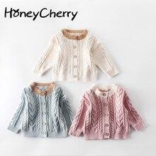 Г. Осенний свитер для маленьких девочек; детский свитер; вязаная куртка; кардиган; детские свитера и топы для мальчиков
