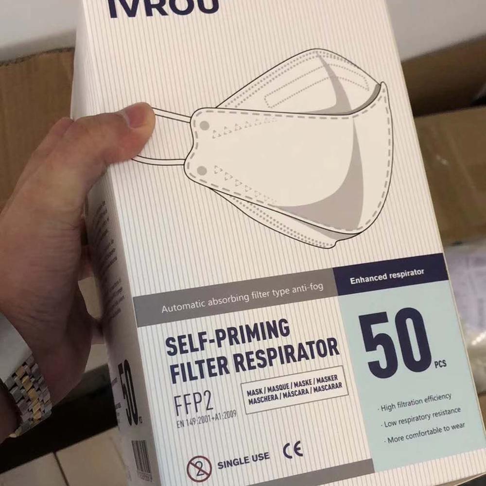 Hot  Eu Standard Protective Masks 50Pcs Boxe/1Pcs Anti-Fog And Dust-Proof Pm2.5 Mask Cotton Anti Smoke Mask Face Mask