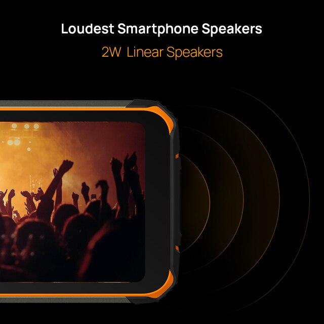 DOOGEE S59 Pro Smartphone 10050mAh Super Battery IP68/IP69K 4+128GB NFC Rugged Smart phone 2W Loud Volume Speaker Cellphones 3