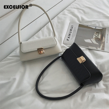 EXCELSIOR New Fashion PU Leather Womens Bags Buckle Shoulder for Female Small Flap Ins Style Women Handbags