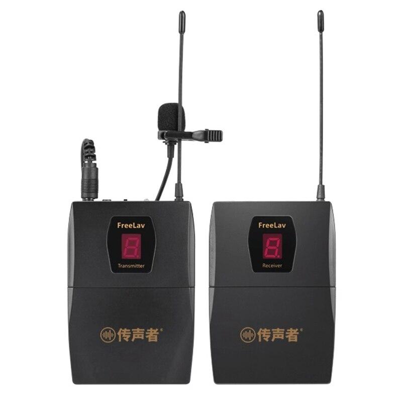 Беспроводной ручной микрофон для камеры Nikon Canon, интервью и съемки, как видео клип интервью микрофонная система для видео R