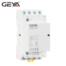 Free Shipping GEYA 4P 20A 4NO or 2NO2NCHousehold Modular AC Contactor DIN Rail Type AC220V Automatic japan ac contactor sc n3 sc65baa ac110v ac220v