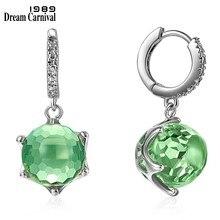 Boucles d'oreilles en Zircon pour femmes, coupe spéciale, vert clair éblouissant, bijoux de mariage élégants, WE3819GR, offre spéciale