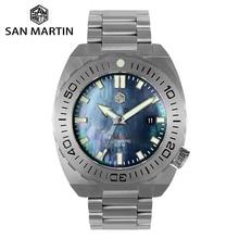 San Martin DIVER นาฬิกาผู้ชายนาฬิกา Sapphire กันน้ำ 500 M สแตนเลส Limited Edition